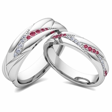 Matching Wedding Bands for Him and Her My Love Wedding Ring