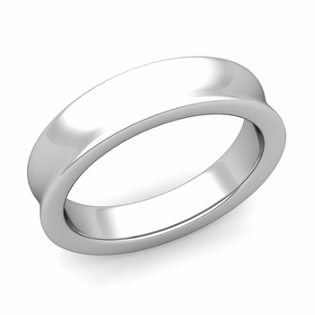 Contour Wedding Band in 14k Gold Comfort Fit Ring, 5mm