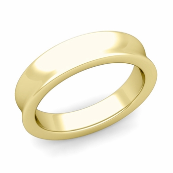 Contour Wedding Band in 18k Gold Comfort Fit Ring, 5mm
