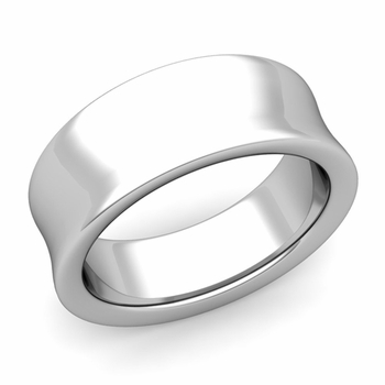 Contour Wedding Band in 14k Gold Comfort Fit Ring, 8mm
