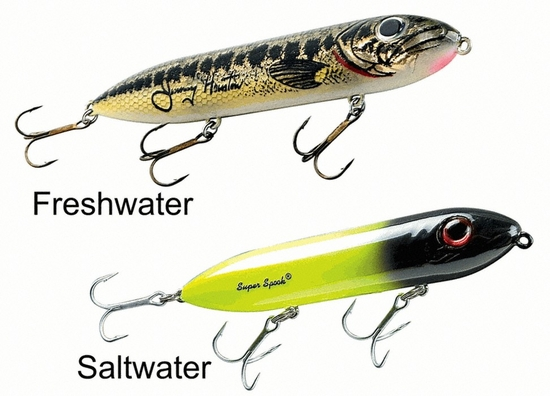 Heddon super spook lures all colors available for Spook fishing lure