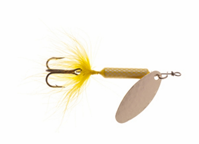 Worden 39 s hammered blade rooster tail spinners new for 2012 for Rooster tail fishing lure