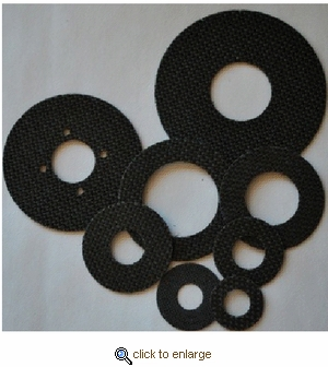 Smooth Drag Individual Replacement Carbontex Washers