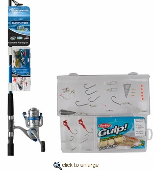 Shakespeare Catch More Fish Surf/Pier Rod & Reel Kit