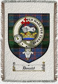 Donald Clan Badge Throw Blanket
