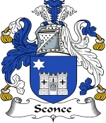 Sconce Family Crest / Sconce Coat of Arms JPG Download