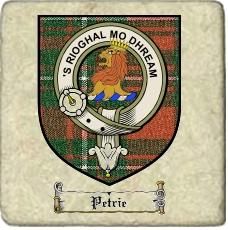 Petrie Clan Badge Marble Tile