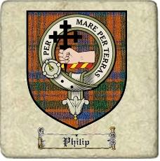 Philip Clan Macdonnell Ofkeppoch Clan Badge Marble Tile