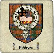 Philipson Clan Macdonnell Ofkeppoch Clan Badge Marble Tile