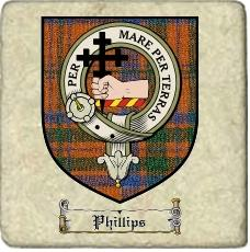 Phillips Clan Badge Marble Tile