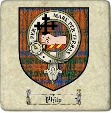 Philp Clan Macdonnell Ofkeppoch Clan Badge Marble Tile