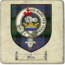Philp Clan Badge Marble Tile