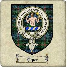 Piper Clan Badge Marble Tile