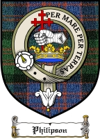 Philipson Clan Macdonnell Ofkeppoch Clan Badge / Tartan FREE preview