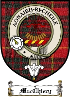 Macchlery Clan Macintosh Clan Badge / Tartan FREE preview