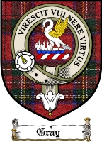 Gray Clan Sutherland Clan Badge / Tartan FREE preview