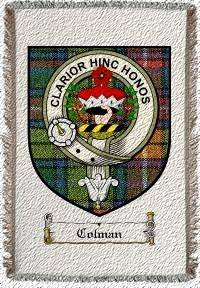 Colman Clan Badge Throw Blanket