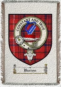 Barron Clan Badge Throw Blanket