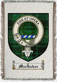 Macindeor Clan Macarthur Clan Badge Throw Blanket