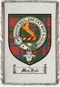 Macfall Clan Badge Throw Blanket