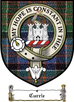Currie Clan Macpherson Clan Badge / Tartan FREE preview