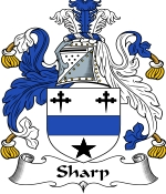 Sharp Family Crest / Sharp Coat of Arms JPG Download