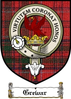 Grewar Clan Fraser Clan Badge / Tartan FREE preview