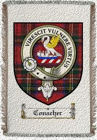 Conacher Clan Stewart Clan Badge Throw Blanket