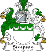 Simpson Family Crest / Simpson Coat of Arms JPG Download