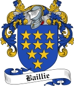 Baillie Family Crest / Baillie Coat of Arms JPG Download