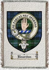 Bourdon Clan Badge Throw Blanket