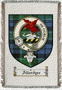 Allardyce Clan Badge Throw Blanket