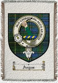 Angus Clan Badge Throw Blanket