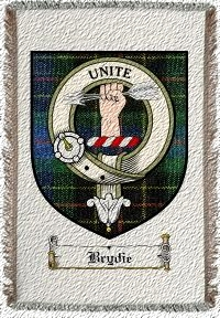 Brydie Clan Badge Throw Blanket