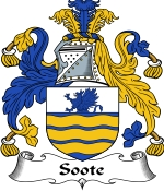 Soote Family Crest / Soote Coat of Arms JPG Download