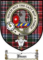 Bean Clan Badge / Tartan FREE preview