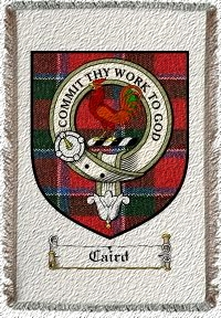 Caird Clan Sinclair Clan Badge Throw Blanket