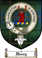 Davey Clan Badge / Tartan FREE preview