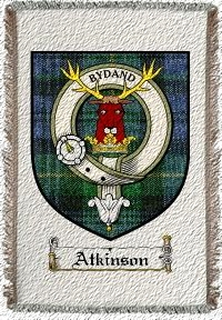 Atkinson Clan Badge Throw Blanket