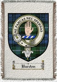 Burdon Clan Badge Throw Blanket