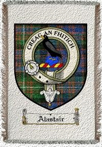 Alastair Clan Macdonnell Clan Badge Throw Blanket