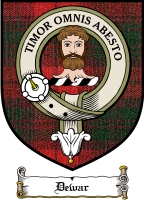 Dewar Clan Menzies Clan Badge / Tartan FREE preview