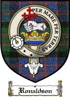 Ronaldson Clan Macdonnell Ofkeppoch Clan Badge / Tartan FREE preview