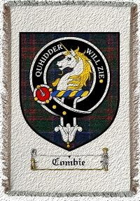 Combie Clan Stewart Appin Clan Badge Throw Blanket