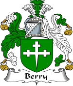 Berry Family Crest / Berry Coat of Arms JPG Download