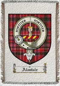 Alastair Clan Badge Throw Blanket