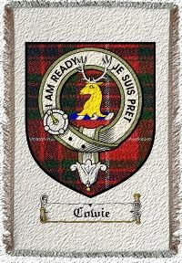 Cowie Clan Badge Throw Blanket