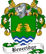 Beveridge Family Crest / Beveridge Coat of Arms JPG Download