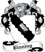 Binning Family Crest / Binning Coat of Arms JPG Download