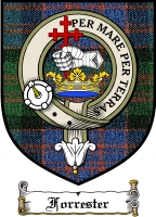 Forrester Clan Badge / Tartan FREE preview